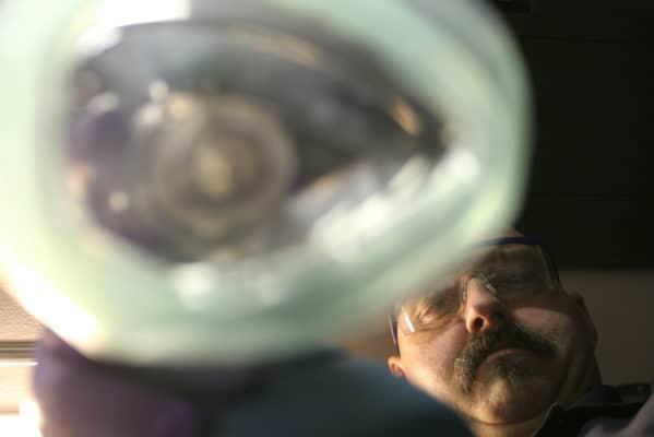 A patient receiving oxygen via BVM